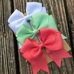 Sailor Bows On Alligator Grip Clip- Set of 3